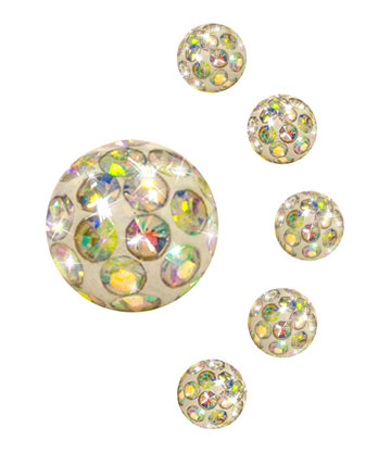 Crystall Ball Per Piercing Aurora Borealis 3mm (Calibro/Spessore) (Crystal)