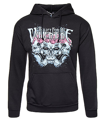 Official Bullet For My Valentine Crown Of Roses Hoodie (Black)