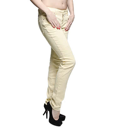 Bleeding Heart Ice Cream Skinny Jeans (Beige)
