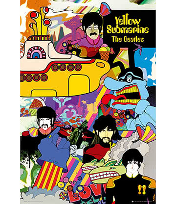 Official The Beatles Yellow Submarine Poster (Multicoloured)