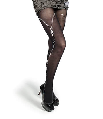 Pamela Mann Zips Tights (Black)