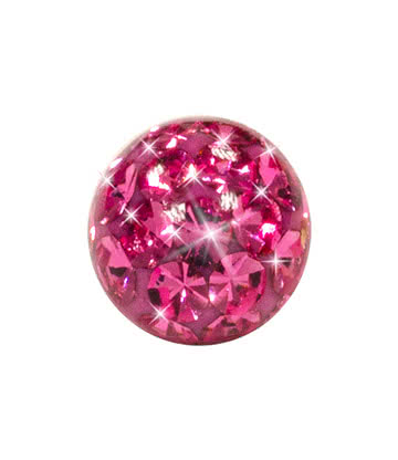 Blue Banana Surgical Steel Glitter Ball (Rose)