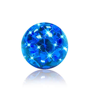 Blue Banana Surgical Steel 5mm Jewelled Glitter Ball (Capri)