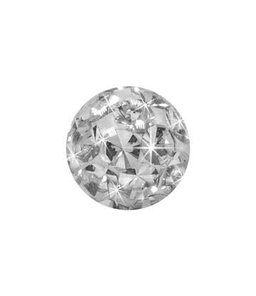 Crystal 5mm Glitter Ball (Crystal)