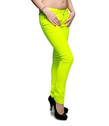 Bleeding Heart Ultra Skinny Jeans (UV Lemon)
