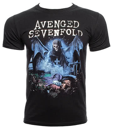 Official Avenged Sevenfold Recurring Nightmare T Shirt (Black)