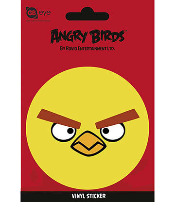 Angry Birds Yellow Bird Vinyl Sticker