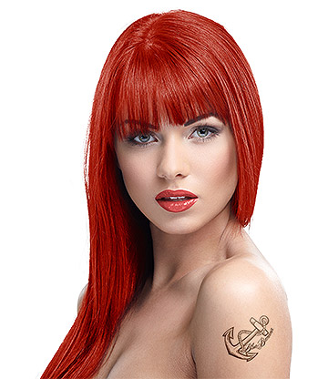Crazy Color Semi-Permanent Hair Dye 100ml (Vermillion Red)