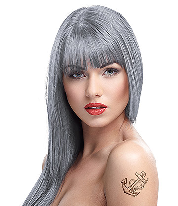 Crazy Color Semi-Permanent Hair Dye 100ml (Silver)