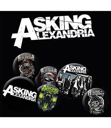 Asking Alexandria Set De Badges - Pins