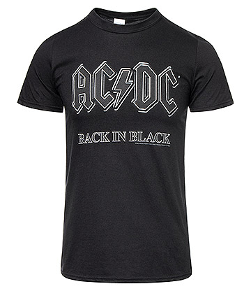 Official AC/DC Back In Black T Shirt (Black)