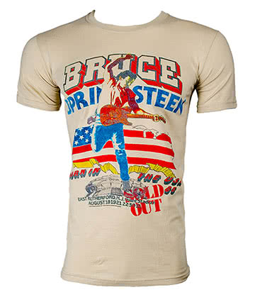 Official Bruce Springsteen Tour T Shirt (Cream)