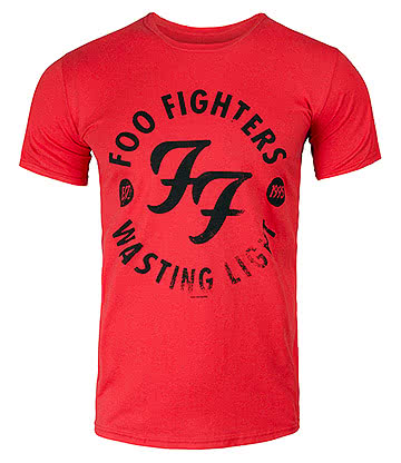 Official Foo Fighters Wasting Light T Shirt (Red)