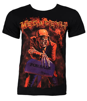 Official Megadeth Peace Sells T Shirt (Black)