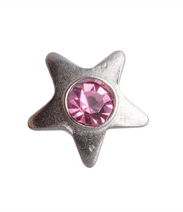 Blue Banana Surgical Steel 3mm Dermal Top Star (Rose)