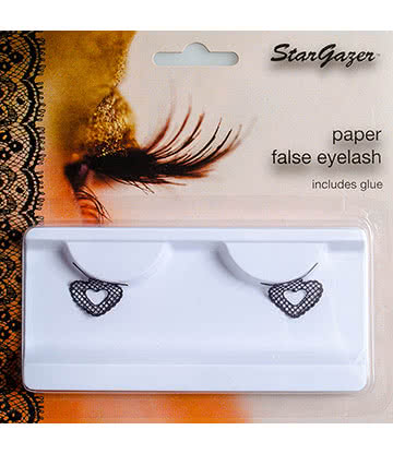 Stargazer Heart  False Eyelashes (Black)