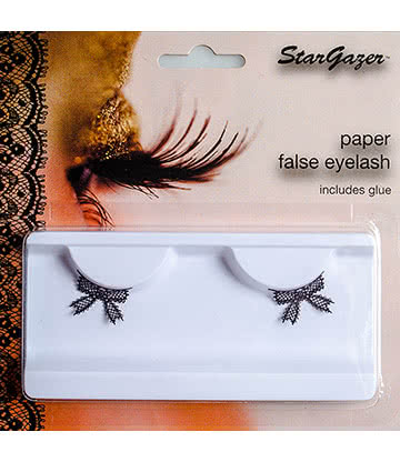 Stargazer Bow False Eyelashes (Black)