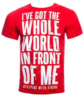 Official Sleeping With Sirens World T Shirt (Red)