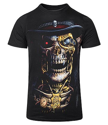 Spiral Direct Steam Punk Reaper T Shirt (Black)