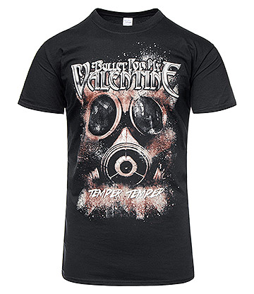 Official Bullet For My Valentine Temper Temper Gas Mask T Shirt (Black)