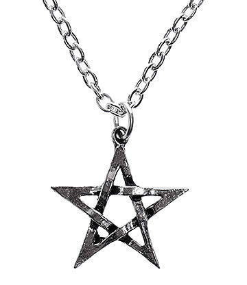 Collar Alchemy Gothic Pentagram Pendant Necklace (Plateado)