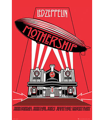 Official Led Zeppelin Mothership Poster