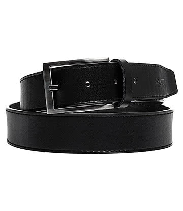 Blue Banana Plain Leather Belt (Black)
