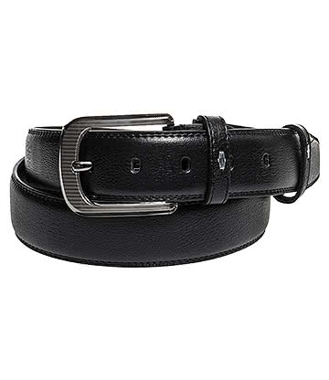 Blue Banana Embossed Leather Belt (Black)