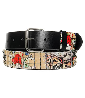 Blue Banana Tiger Studs Belt (Multi-Coloured)