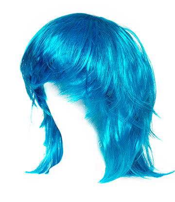 Blue Banana Layered Wig (Blue)