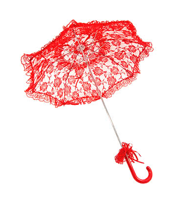 Blue Banana Red Lace Parasol (Diameter 31