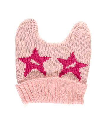 Blue Banana Ears Hat With Stars (Pink)
