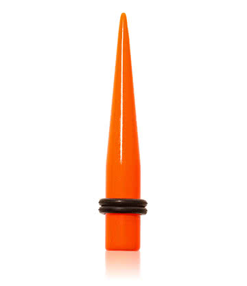 Blue Banana Acrylic Neon Ear Stretcher (Orange)
