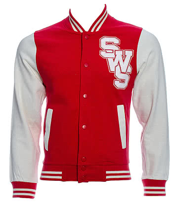 Sleeping With Sirens Veste American College (Rouge)