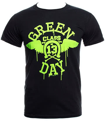 Official Green Day Neon Wings T Shirt (Black)