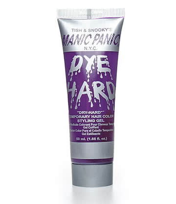 Manic Panic Dye Hard Temporary Hair Colour Styling Gels 50ml (Purple Haze)