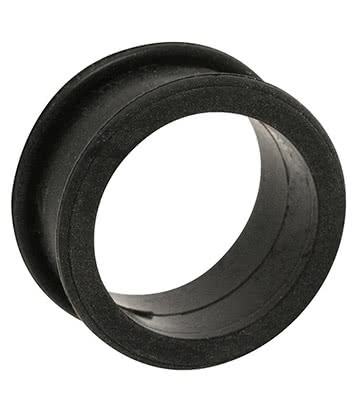 Blue Banana Silicone Flesh Tunnel 3-22mm (Black)