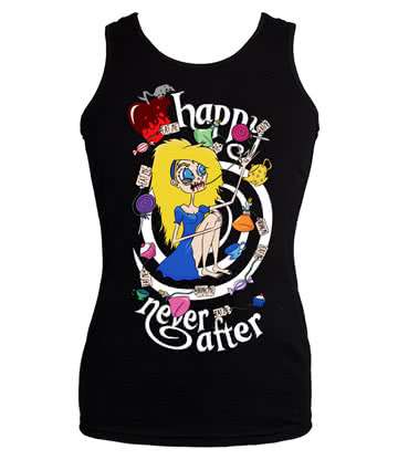 Happy Never After Alice Spiral Vest Top (Black)