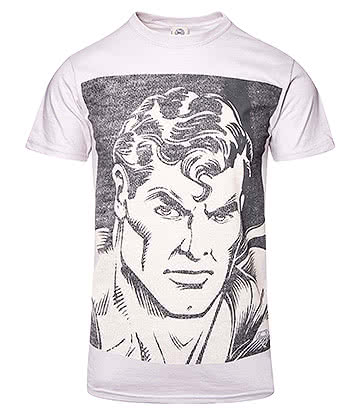 DC Comics Superman Portrait T Shirt (Grey)