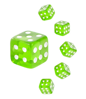 Blue Banana Acrylic UV 5mm Dice Add On (Green)
