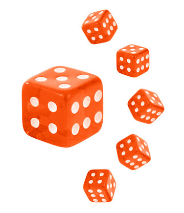 Blue Banana Acrylic UV 5mm Dice Add On (Orange)