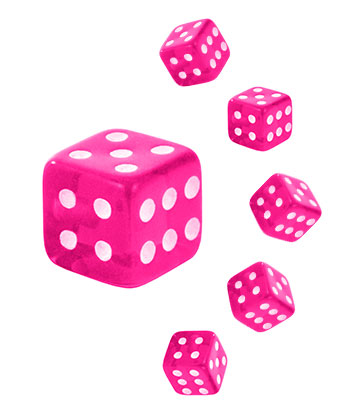 Novelty Dice 5mm Add On (UV Pink)