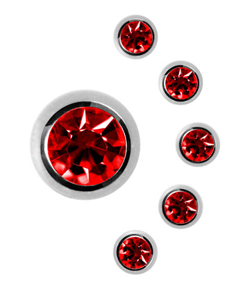 Blue Banana 3mm Boule / Stud Bijou Pour Piercing Diamant (Rouge)