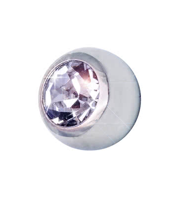 Blue Banana Surgical Steel 5mm Jewelled Ball (Crystal)