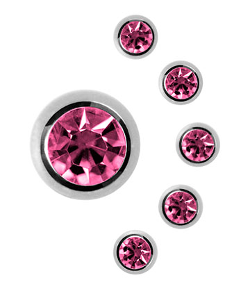 Blue Banana 5mm Boule / Stud Bijou Pour Piercing (Rose)