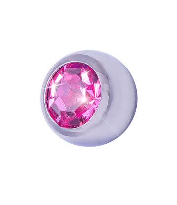 Blue Banana Surgical Steel 5mm Jewelled Ball (Rose)