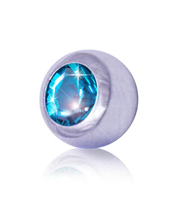 Blue Banana Surgical Steel 5mm Jewelled Ball (Zircon)