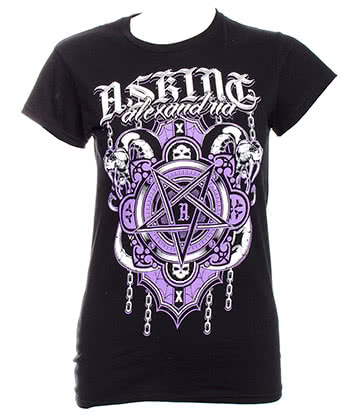 Official Asking Alexandria Demonic Skinny Fit T Shirt (Black)