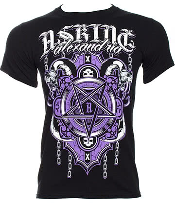 Official Asking Alexandria Demonic T Shirt (Black)