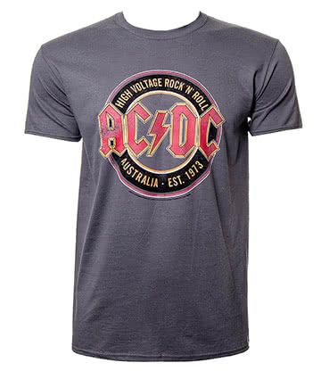 Official AC/DC Est 1973 T Shirt (Charcoal)